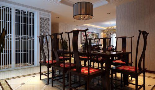 咖啡色古典风格餐厅装潢