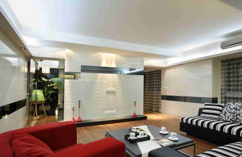 现代简约客厅背景墙装饰装修效果图