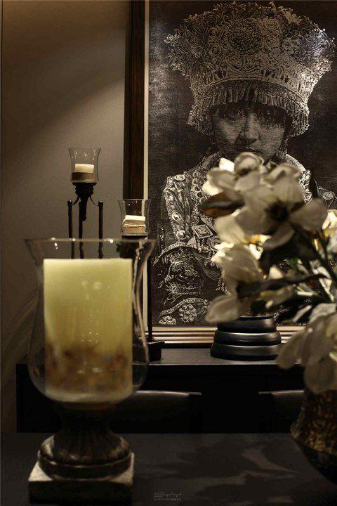 中式风格餐厅壁画效果图