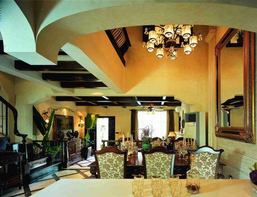 东南亚风格别墅餐厅吊顶效果图