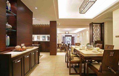 新中式风格餐厅吊顶装饰设计效果图