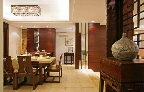 新中式餐厅吊顶装潢设计效果图