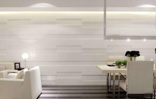 现代简约风格餐厅背景墙设计图片