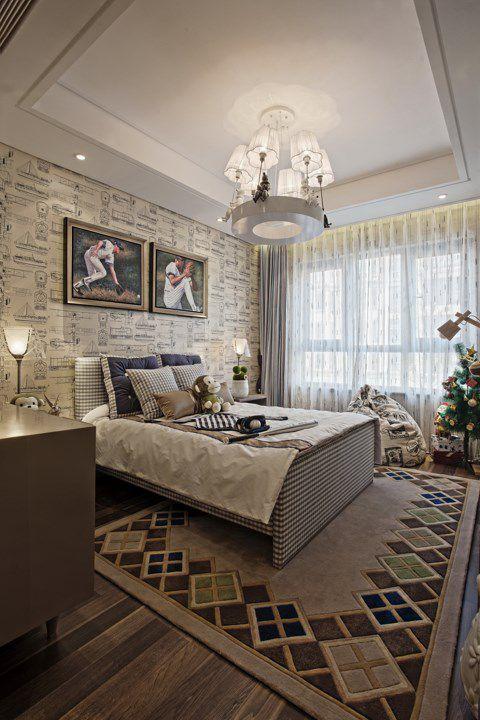 古典美式风格卧室装潢