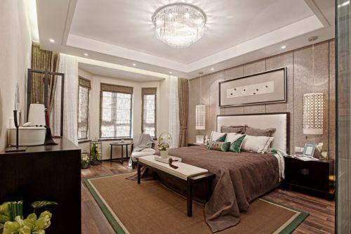 新中式风格灰色卧室装修案例