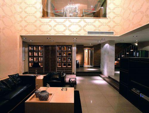 后现代风格别墅客厅壁纸装饰设计
