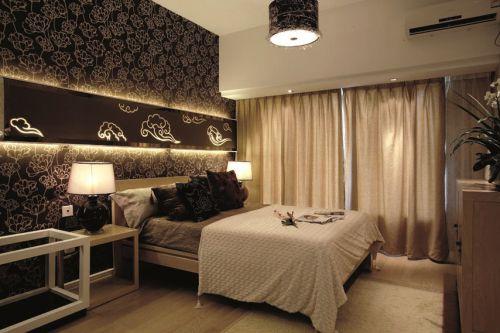 浅咖色中式风格卧室装修