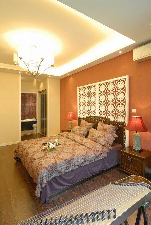 优雅的中式风格卧室装潢