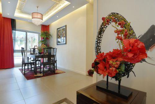中式风格婚房餐厅装修效果图