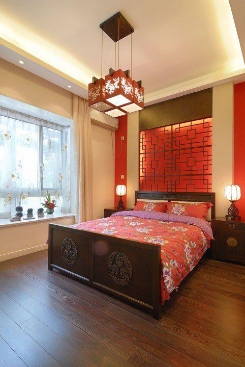 古典风格红色的卧室装修