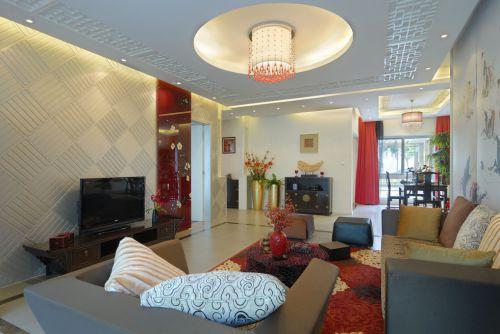 中式风格婚房客厅装修