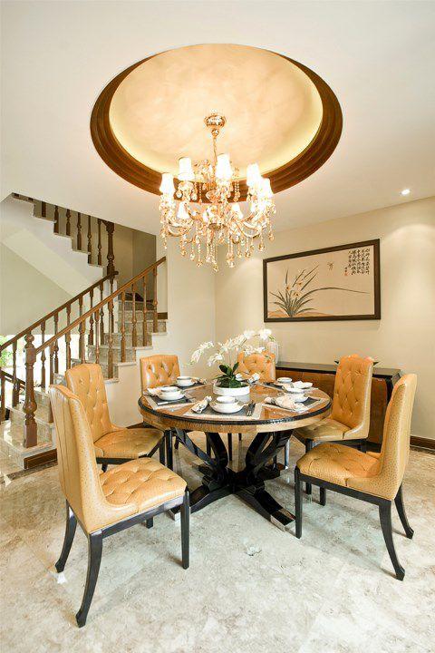 復式住宅豪華歐式風格餐廳裝潢