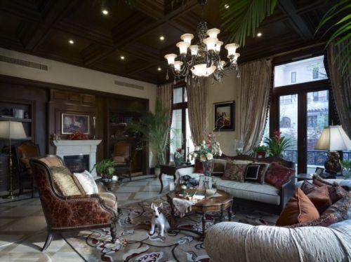 美式古典风格客厅背景墙