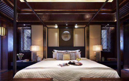 咖啡色古典风格卧室装修案例