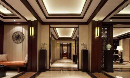 中式风格咖啡色别墅装修