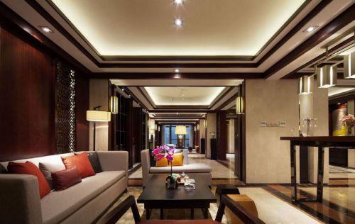 中式风格别墅客厅装修案例