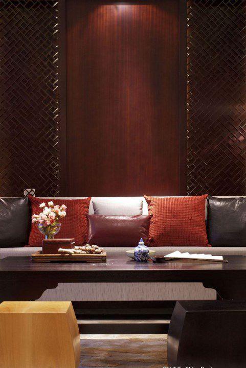 中式风格客厅沙发抱枕设计
