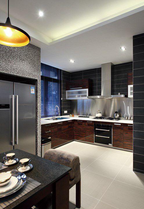 简欧风格家装开放式厨房