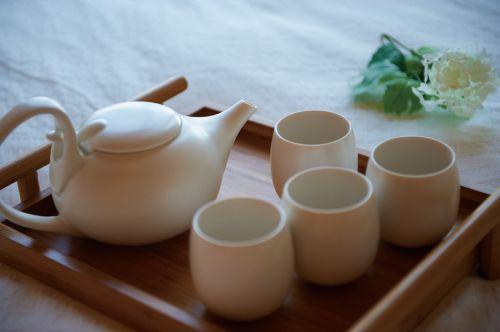 清新优雅客厅茶具图片