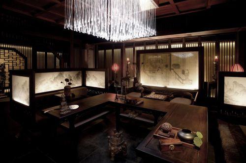 豪华古典风格咖啡色客厅装修