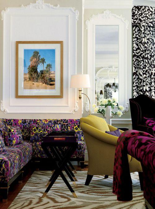 混搭风格红色的客厅装修案例