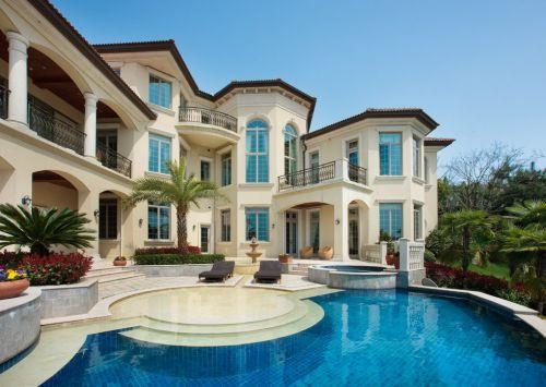 美式风格别墅外观效果图