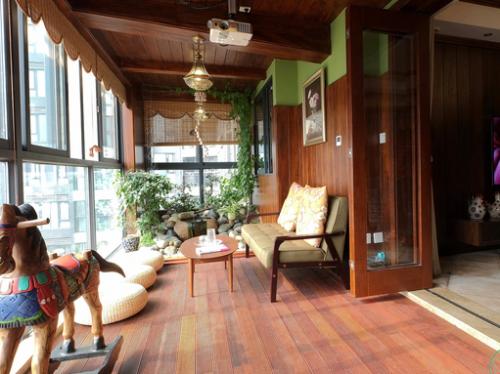 中式风格阳台装修效果图