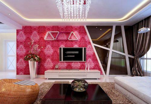 湖北电视�:Z�~Z�_简约小户型客厅电视背景墙装修设计_装修之家装修效果图