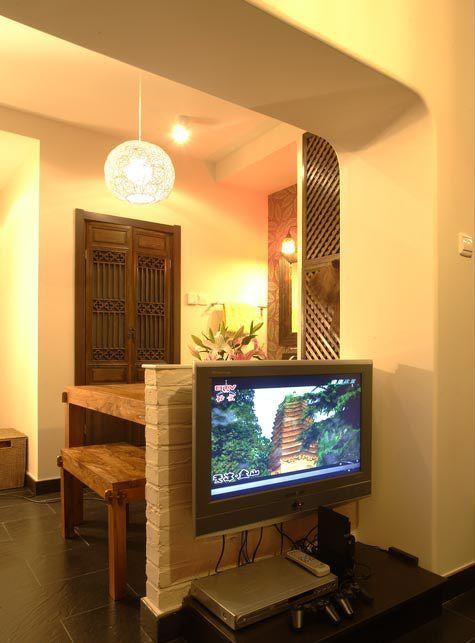 紫荆公寓29平婚房电视背景墙