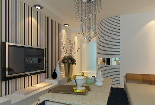 现代客厅电视墙装修效果图
