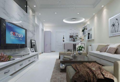 贵州花果园现代客厅家装设计效果图