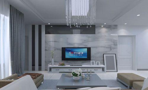 贵州花果园现代家装电视背景墙设计效果图