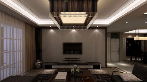 明珠国际城现代客厅电视背景墙设计效果图