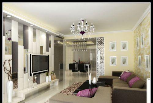 时尚电视背景墙设计效果图