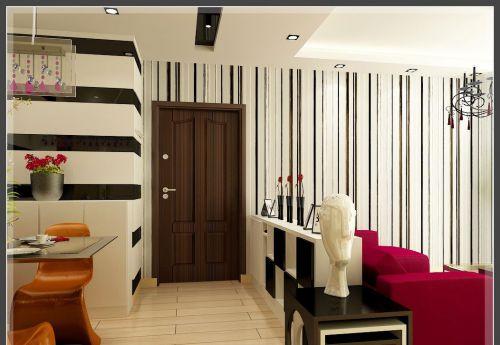 艺术风格设计客厅背景墙家装效果图