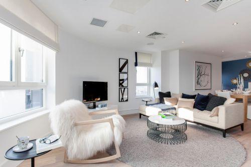 混搭风格现代美图三室一厅日式客厅美图