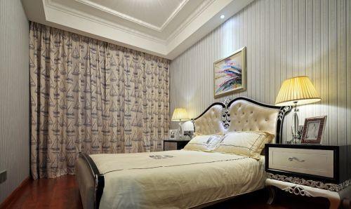 卧室布艺窗帘图片