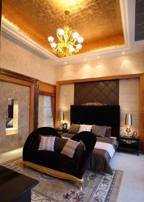 别墅主卧室吊顶图片