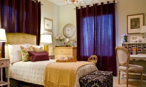 欧式卧室窗帘效果图