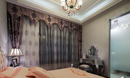 卧室纺纱窗帘效果图