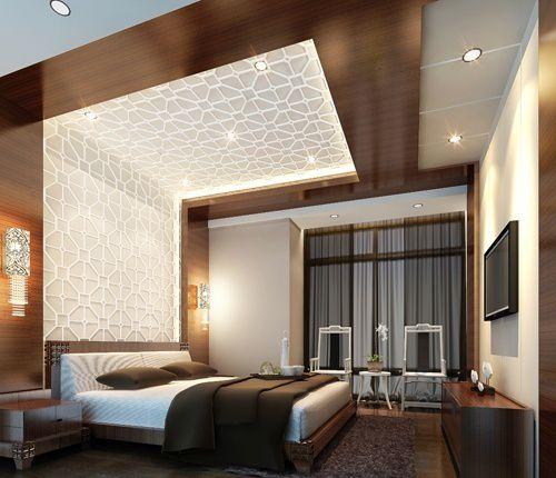 卧室背景墙吊顶效果图