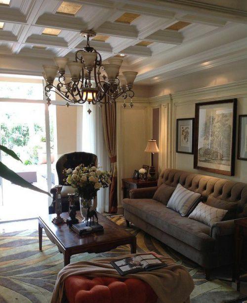 別墅客廳吊頂裝修設計效果圖