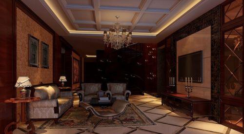新中式風格美圖中式客廳吊頂美圖
