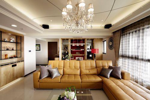 142平打造不一樣的三口之家客廳美圖