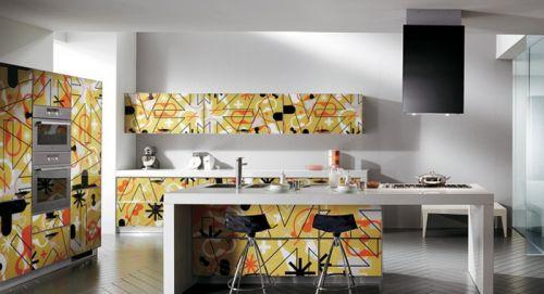 现代开放式厨房装修效果图 整体橱柜效果图