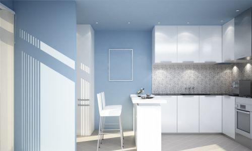 小厨房装修效果图 白色厨房橱柜效果图