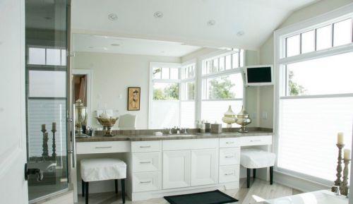 白白的简约元素的北欧风格整体橱柜装修图片