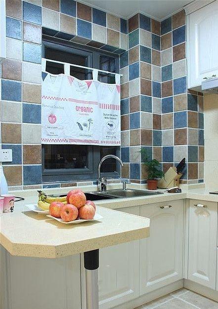 地中海装修厨房橱柜效果图