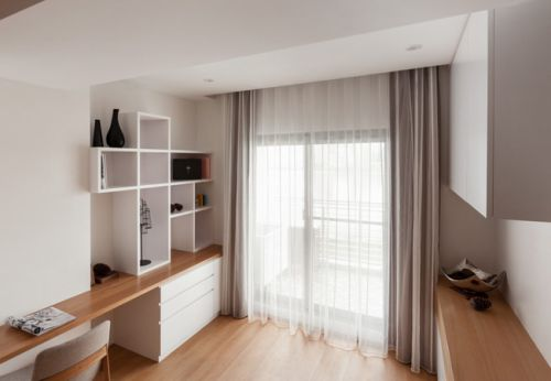 禅意宁静极致简洁的一居室