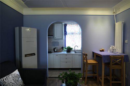 地中海蓝色厨房装饰图